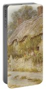 Cottage Near Wells Somerset Portable Battery Charger by Helen Allingham