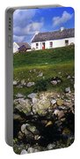Cottage On Achill Island, County Mayo Portable Battery Charger