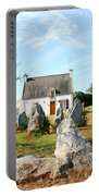 Cottage With Standing Stones Portable Battery Charger
