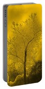 Cottonwood Tree April 2012 In Gold Portable Battery Charger
