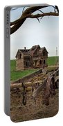 Country Home And Wagon Portable Battery Charger by Athena Mckinzie