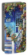 Country Porch And Flowers By Prankearts Portable Battery Charger