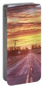 Country Road Sunrise Portable Battery Charger