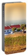 Countryside House Portable Battery Charger by Carlos Caetano