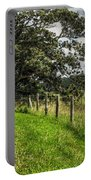 Countryside With Old Fig Tree Portable Battery Charger