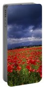 County Kildare, Ireland Poppy Field Portable Battery Charger