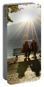 Couple On A Bench Portable Battery Charger