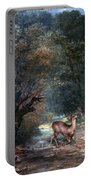 Courbet: Hunted Deer, 1866 Portable Battery Charger