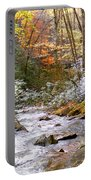 Courthouse River In The Fall Portable Battery Charger
