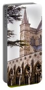 Courtyard Salisbury Cathedral - England Portable Battery Charger