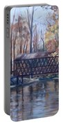 Covered Bridge At Lake Roaming Rock Portable Battery Charger