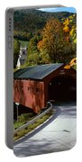 Covered Bridge In Vermont Portable Battery Charger