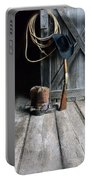 Cowboy Hat Boots Lasso And Rifle Portable Battery Charger