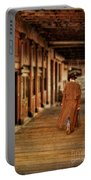Cowboy In Old West Town Portable Battery Charger