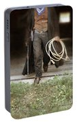 Cowboy With Guns And Rope Portable Battery Charger