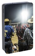 Cowboys At Rodeo Portable Battery Charger