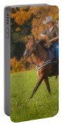 Cowgirl Portable Battery Charger by Susan Candelario