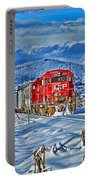 Cp Rail Train In Winter Hdr Portable Battery Charger