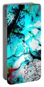 Cracked Blue Mud Portable Battery Charger