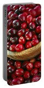 Cranberries In A Bowl Portable Battery Charger