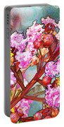 Crape Myrtle Blank Greeting Card Portable Battery Charger