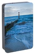 Crashing Waves At Bournemouth Beach Portable Battery Charger