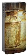 Creamery Cans In 1880 Town No 3098 Portable Battery Charger