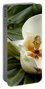 Creamy Magnolia Portable Battery Charger