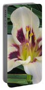 Creamy White Lily Portable Battery Charger