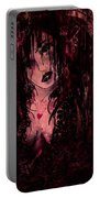Crimson Torn Lace Portable Battery Charger
