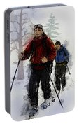 Cross Country Skiers Portable Battery Charger