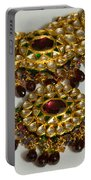 Cross Section Of A Purple And Yellow Gold Beautiful Necklace Portable Battery Charger by Ashish Agarwal