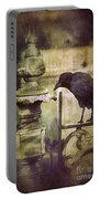 Crow On Iron Gate Portable Battery Charger