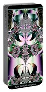 Crown And Jeweled Lotus Flowers Fractal 124 Portable Battery Charger