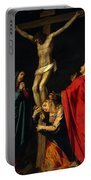 Crucification At Night Portable Battery Charger