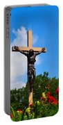 Crucifix In Indian River Portable Battery Charger
