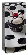 Cupcake With Cherry Portable Battery Charger