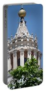Cupola Atop St Peters Basilica Vatican City Italy Portable Battery Charger