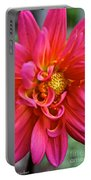 Curly Dahlia Portable Battery Charger