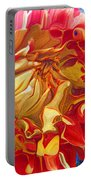Red And Yellow Dahlia Portable Battery Charger