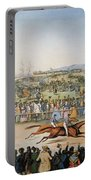 Currier & Ives: Racing, 1845 Portable Battery Charger