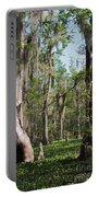 Cypress Trees And Water Hyacinth In Lake Martin Portable Battery Charger