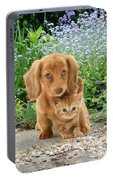 Dachshund And Tabby Portable Battery Charger
