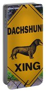 Dachshund Crossing Portable Battery Charger
