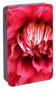 Dahlia In Red Portable Battery Charger