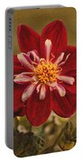 Dahlia Portable Battery Charger by Sandy Keeton