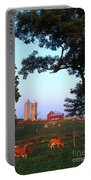 Dairy Farm Portable Battery Charger by Photo Researchers
