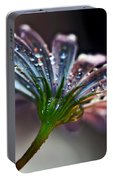 Daisy Abstract With Droplets Portable Battery Charger