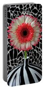 Daisy And Graphic Vase Portable Battery Charger