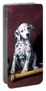 Dalmatian Puppy With Baseball Portable Battery Charger